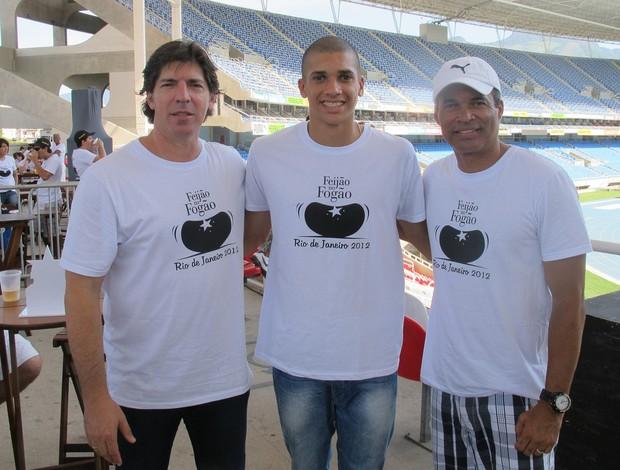 Gottardo, Dória e Gonçalves Botafogo (Foto: Thales Soares / Globoesporte.com)
