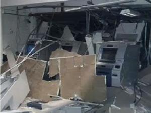 Grupo explode banco em Capistrano; ataque é o 37º no Ceará em 2016 (Foto: Reprodução/TV Verdes Mares)