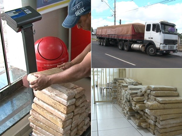 PM apreende 580kg de maconha em Guarapuava (Foto: Eduardo Andrade (RPC TV Guarapuava))
