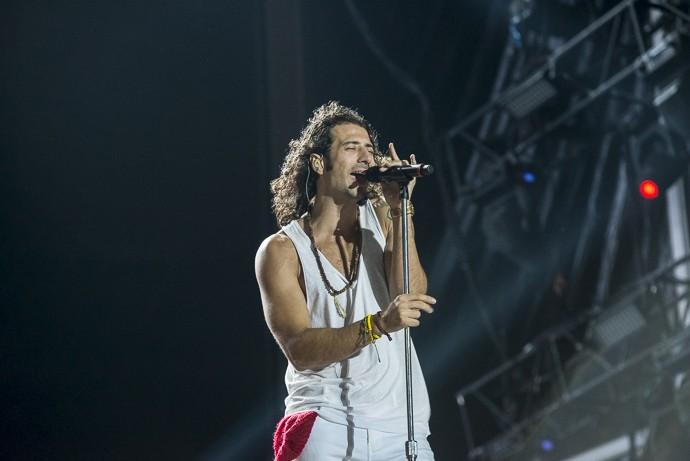 Durante o show, Nasri elogiou as muheres brasileiras (Foto: Ellen Soares / Gshow)