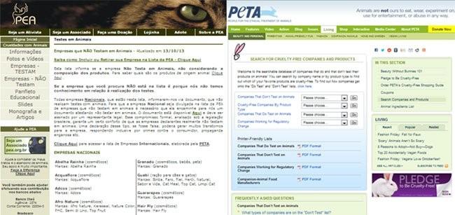 Nos sites do PEA e da PETA é possível consultar as empresas que não realizam testes em animais (Foto: Divulgação )