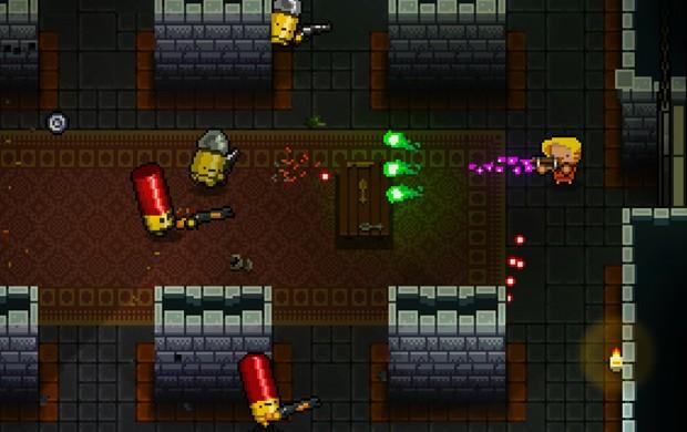 'Enter the Gungeon' é um game de exploração e ação nos moldes de 'Spelunky' e 'The Binding of Isaac' (Foto: Divulgação)