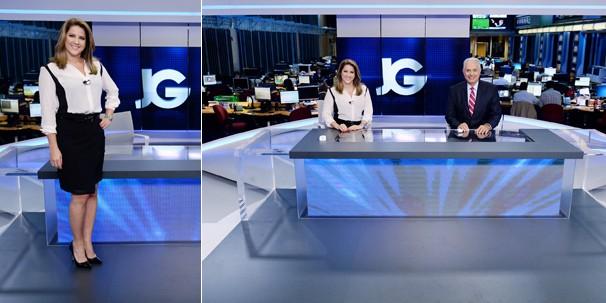 Um telão de quatro metros formado por seis monitores dá subsídio a interpretações das informações e valoriza do Jornal da Globo (Foto: Zé Paulo Cardeal/Globo)