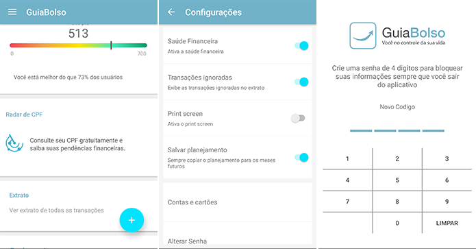 Consulte CPF, impeça prints e bloqueie o app com senha (Foto: Reprodução/Paulo Alves)