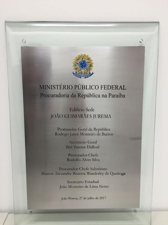 A placa corrigida (Foto: Divulgação)