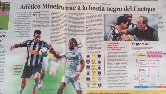 Jornal El Mercurio comenta sobre Dátolo, que quase defendeu o Colo Colo (Foto: Fernando Martins)