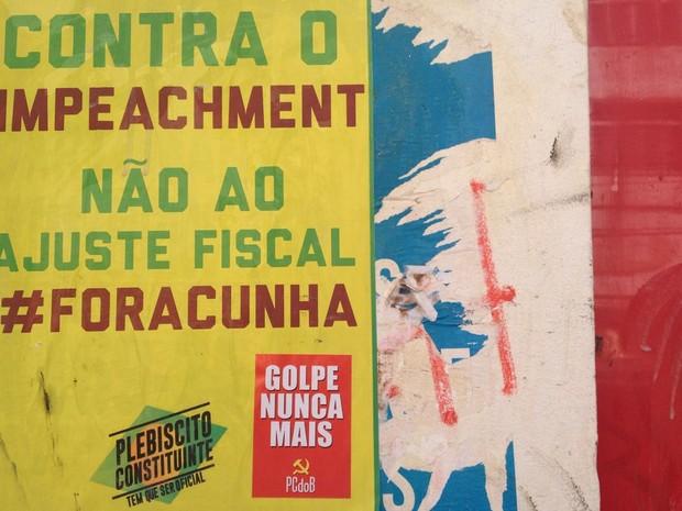 Ato desta terça-feira é contra impeachment (Foto: Natally Acioly/G1)