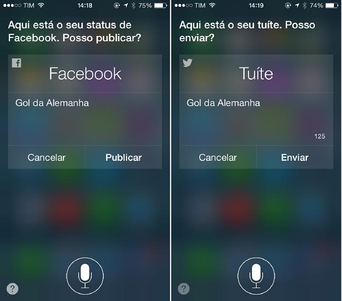 Poste nas redes sociais usando comandos de voz (Foto: Felipe Alencar/TechTudo)