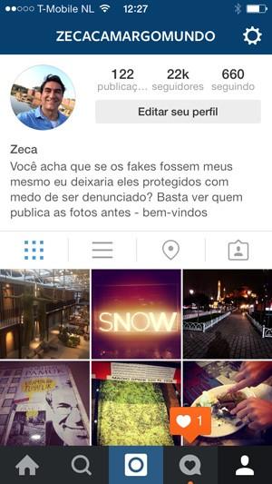 Instagram do Zeca Camargo