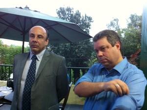 Promotores mauro e Alcino, no Vale do Taquari (Foto: Felipe Truda/G1)