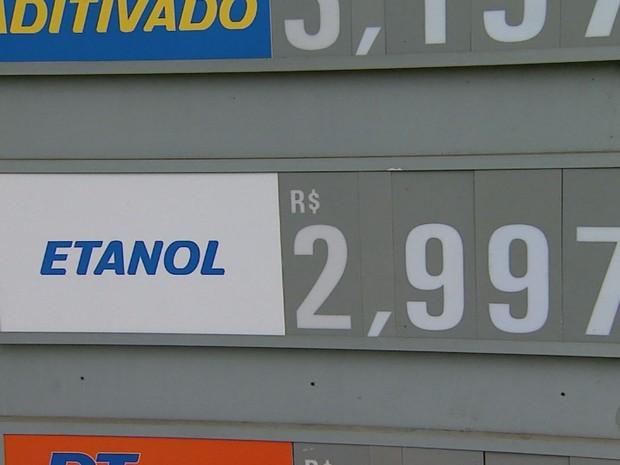Preço do etanol sobe 10,7% em uma semana em Ribeirão Preto, diz ANP (Foto: Alexandre Sá/EPTV)