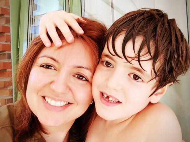 Andréa e o filho, Theo (Foto: Arquivo Pessoal)
