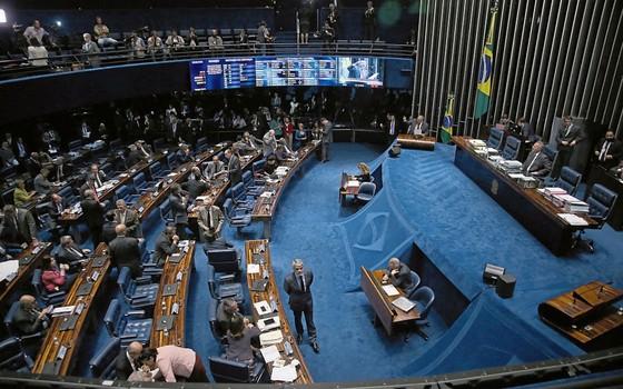 O Senado na votação da PEC 55.Os temas econômicos devem prevalecer na pauta (Foto: orge William /Agência O Globo)