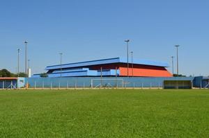 Gramado do estádio Jacques da Luz, em Campo Grande (Foto: Divulgação/Funesp)
