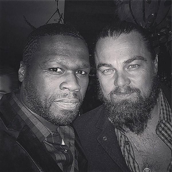 50 Cent e Leonardo Di Caprio não resistiram e tiraram uma selfie durante festa (Foto: Instagram)