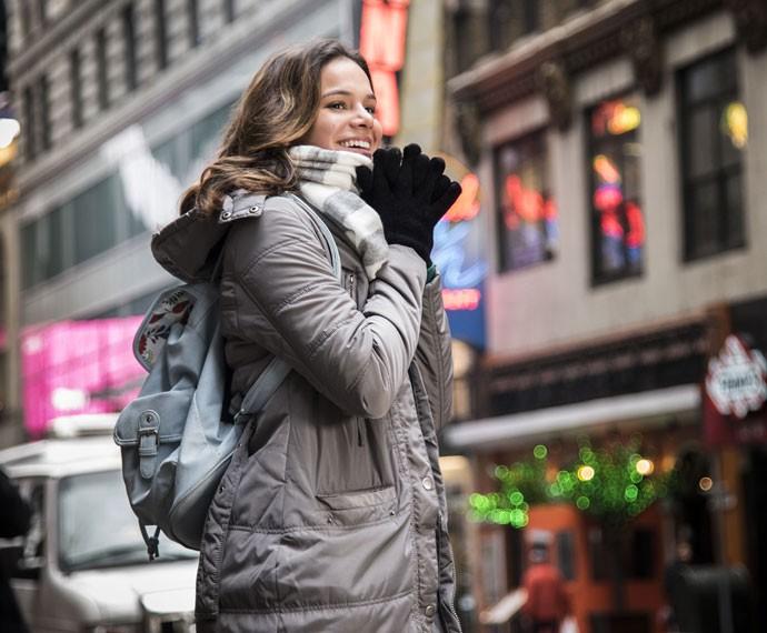 A viagem de Mari a Nova York é uma das cenas principais do primeiro capítulo de 'I Love' (Foto: Raphael Dias/Gshow)
