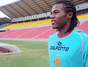 Célio Codó vai jogar pela primeira vez no Estádio Castelão (Foto: Afonso Diniz/Globoesporte.com)