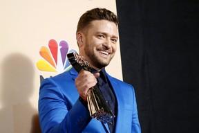 Justin Timberlake em premiação em Los Angeles, nos Estados Unidos (Foto: Danny Moloshok/ Reuters)