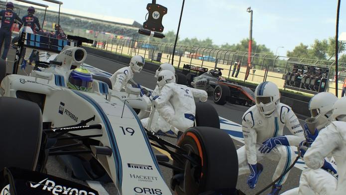Felipe Massa, piloto da equipe Williams, marca presença em trailer de F1 2015 (Foto: Divulgação/Codemasters)