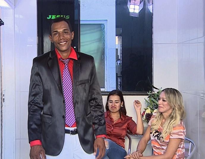 Moises, segundo participante a receber a consultoria do Super Combinando (Foto: TV Sergipe)