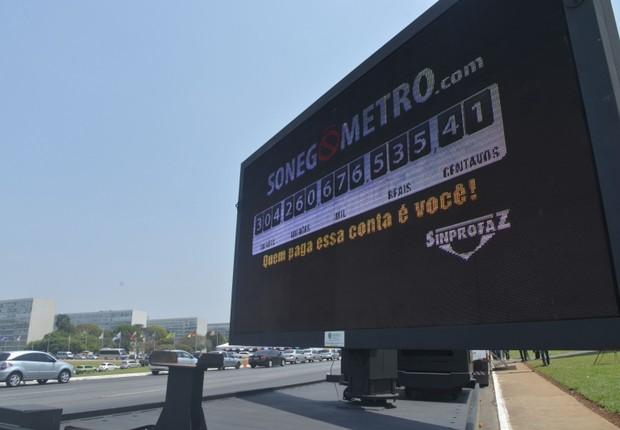 Sonegômetro: mostrando quanto dinheiro é sonegado no país (Foto: Wilson Dias/ABr)