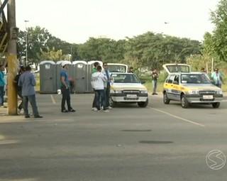 As provas estão sendo em Resende, no Parque de exposições (Foto: Reprodução: RJTV 1ª Edição)