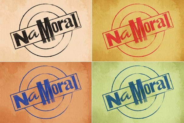 Variações de cores da logomarca do novo programa da Globo, Na Moral, apresentado por Pedro Bial (Foto: TV Globo)