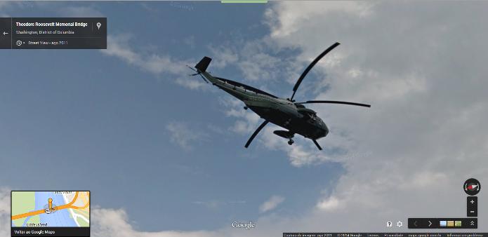 Nem Obama escapou do Google Street View (Foto: Reprodução/Google)