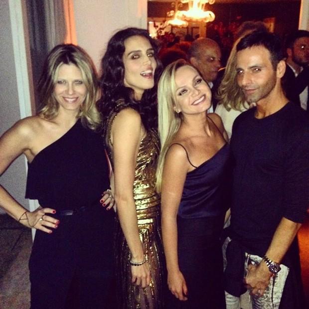 Didi Wagner, Cassia Avila, Eliana e Luis Fiod em festa em São Paulo (Foto: Instagram/ Reprodução)