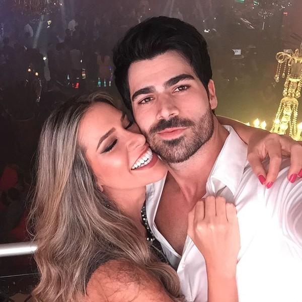 Adriana Sant'Anna e Rodrigão vão a inauguração de casa de festas no Rio