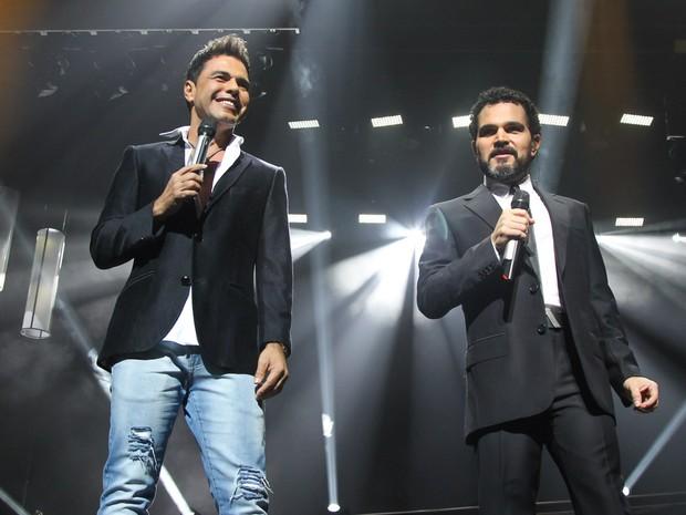 Zezé Di Camargo e Luciano em em show em São Paulo (Foto: Manuela Scarpa/ Brazil News)