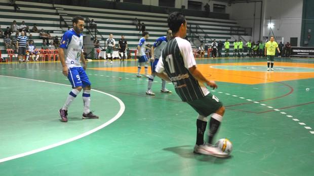 Partida entre Pindamonhangaba e Suzano, pela Liga Paulista de Futsal (Foto: Celso Correa/AgoraVale)