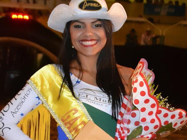 Thamires Cortês ficou com a terceira colocação e foi consagrada a Garota Country 2014 (Foto: Flávio Ribeiro/Divulgação)