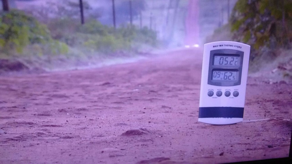 Termômetros marcaram 5,2 ºC nesta madrugada em Ponta Porã (Foto: Mauro Almeida/TV Morena)