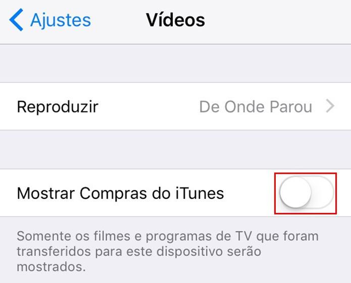 Desative o download de vídeos do iTunes (Foto: Reprodução/Paulo Alves)