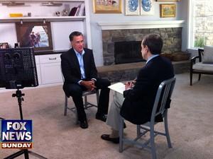 O republicano Mitt Romney em entrevista ao canal Fox (Foto: AFP PHOTO / FOX NEWS CHANNEL / FOX News Sunday)