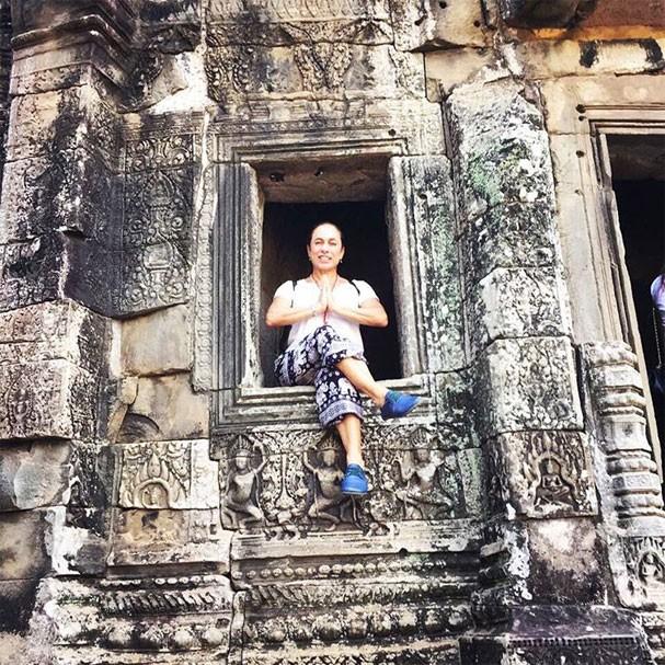 Cissa Guimarães no templo Angkor Thom (Foto: Reprodução/Instagram)