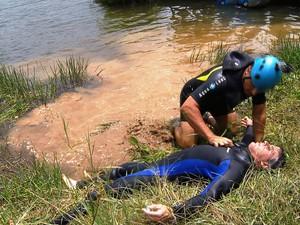 Salvamento aquático Zona da Mata (Foto: Reprodução/TV Integração)