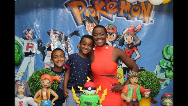 Angélica Ramos com os filhos (Foto: Arquivo pessoal)