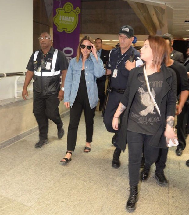 A ex-Spice Mel C chega ao Brasil (Foto: Vinícius Marinho/Brazil News)