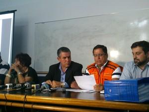 Coletiva de imprensa acconteceu na tarde desta quarta (28) (Foto: Juliana Scarini/G1)