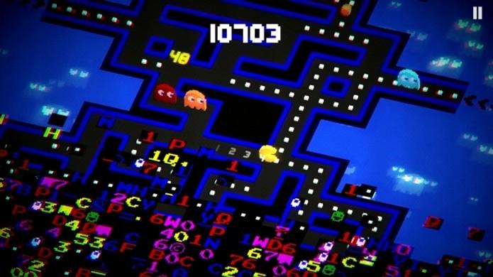 Pac-Man 256 agita a fórmula do mascote ao colocá-lo para correr de um clássico bug (Foto: Reprodução/Gematsu)