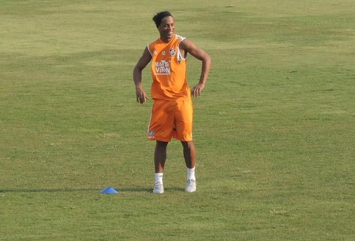 Ronaldinho Gaúcho Fluminense (Foto: Sofia Miranda/ GloboEsporte.com)