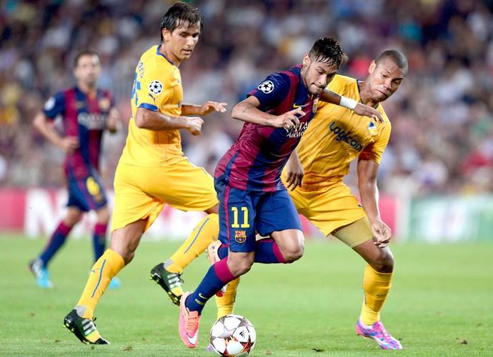 Neymar, Barcelona X Apoel (Foto: Agência AFP)