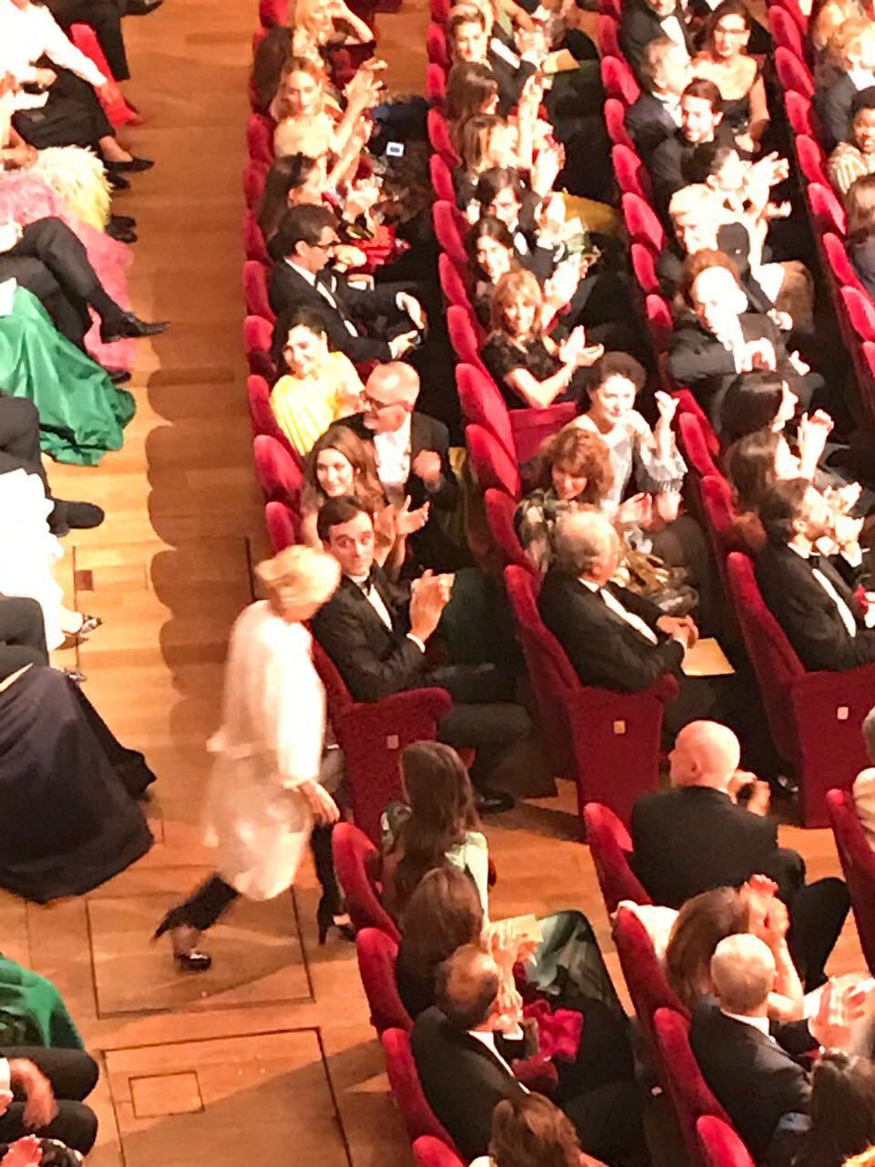Gisele Bündchen na platéia do prêmio (Foto: Barbara Migliori)
