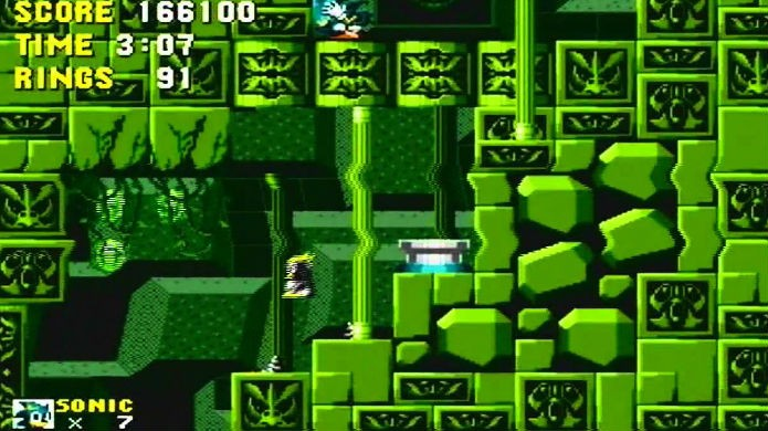 Sonic the Hedgehog não sabe nadar por um erro de pesquisa (Foto: Reprodução/YouTube)