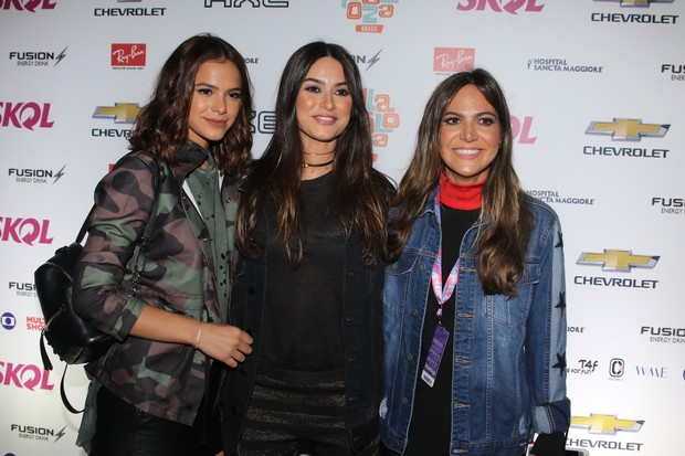Bruna Marquezine, Thaila Ayala e Carol Sampaio (Foto: Thiago Duran/AgNews)