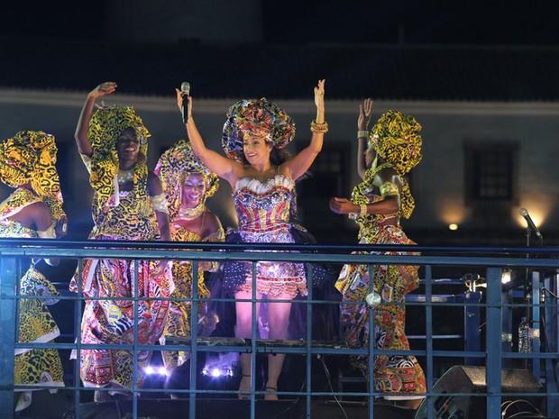Daniela Mercury comenta que noite de domingo (2) deste carnaval é especial para ela (Foto: Wesley Costa / AgNews)