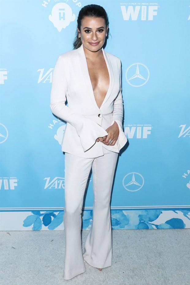 Lea Michele em festa pré-Emmy (Foto: AKM Images)