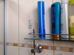 Ampulheta distribuída pelo Consórcio PCJ ajuda a controlar tempo no banho e economizar água